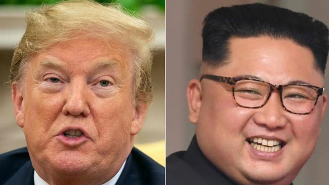 US President Donald Trump and North Korea's leader Kim Jong-un. Picture: AFP