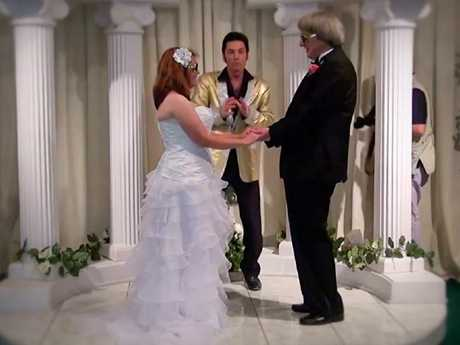 David and Louise getting married. Picture: 60 Minutes