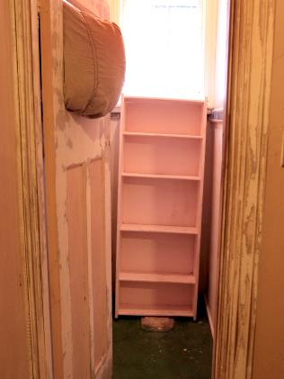 Inside a double room with wardrobe.