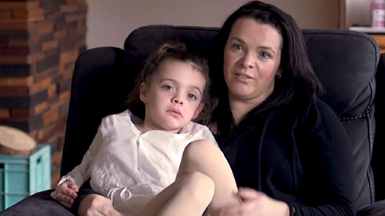 Sarah Lockett with her daughter Montana, 6.