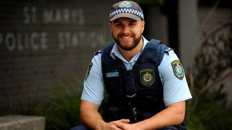 Constable Daniel Hadley was the recipient of a Police Officer of the Year Award for St Marys LAC in 2014.