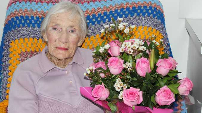 Linda Paddon was born the day Great Britain declared war on Germany and turns 104 today. Picture: Michelle Smith