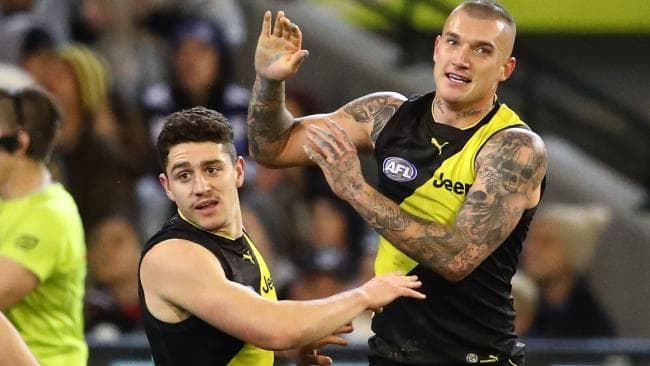 Dustin Martin has just finished 'Dry July'. Picture: Getty Images