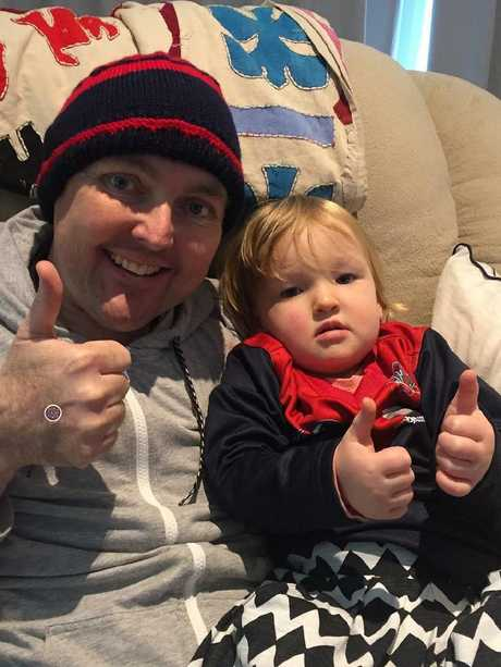 Jarrod Lyle with daughter Jemma. Picture Instagram