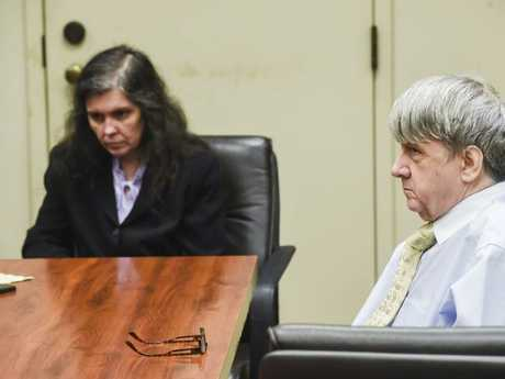 Defendants David Turpin, right, and wife, Louise pictured at court.