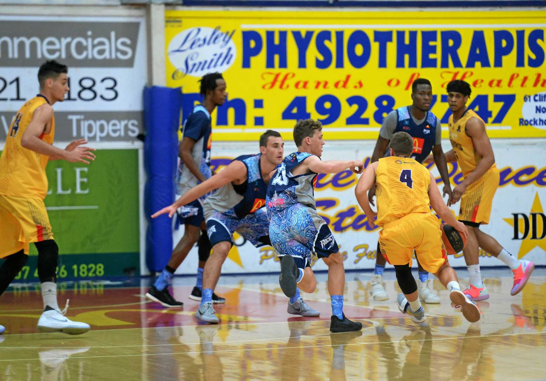The Rockhampton Rockets toppled the South West Metro Pirates on Saturday night.