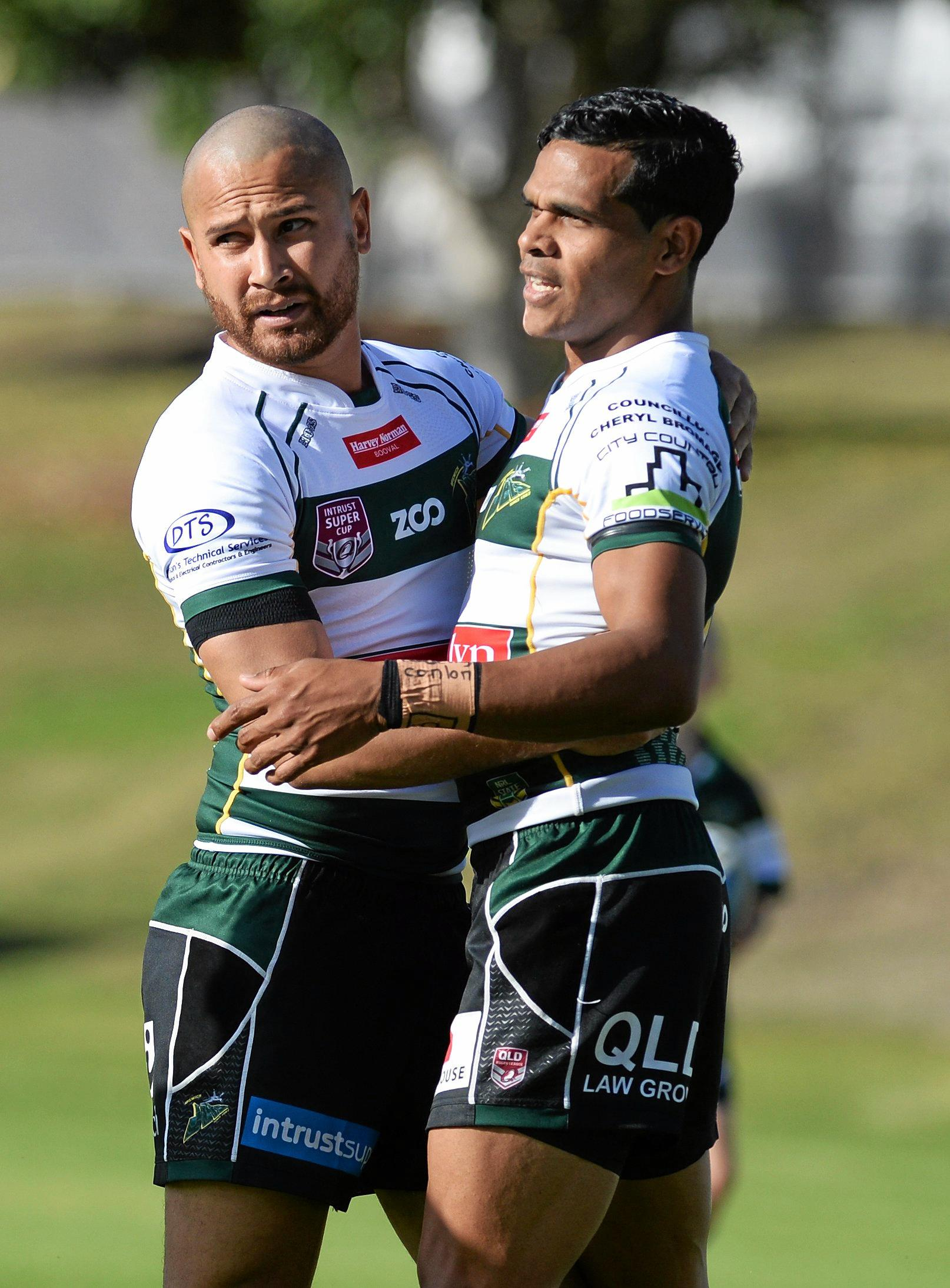 DYNAMIC DUO: Marmin Barba and Michael Purcell are never far away from the scoresheet whenever the Ipswich Jets take the field.