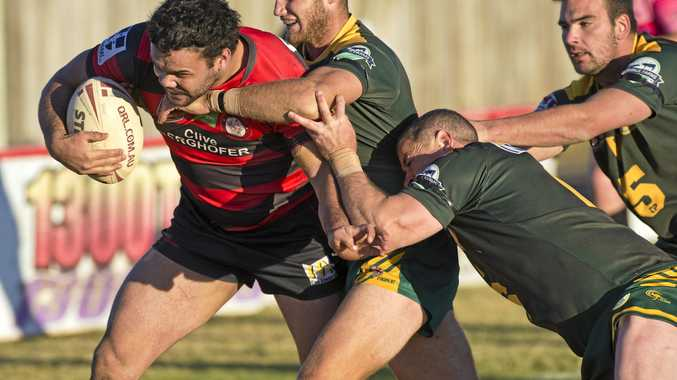 BACK IN ACTION: Kalemb Hart made a return to action for Valleys in their 52-4 defeat of Pittsworth last night.