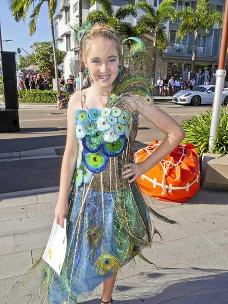 Year 9 student Jessica Renton modelling Quinn McKenzie's design