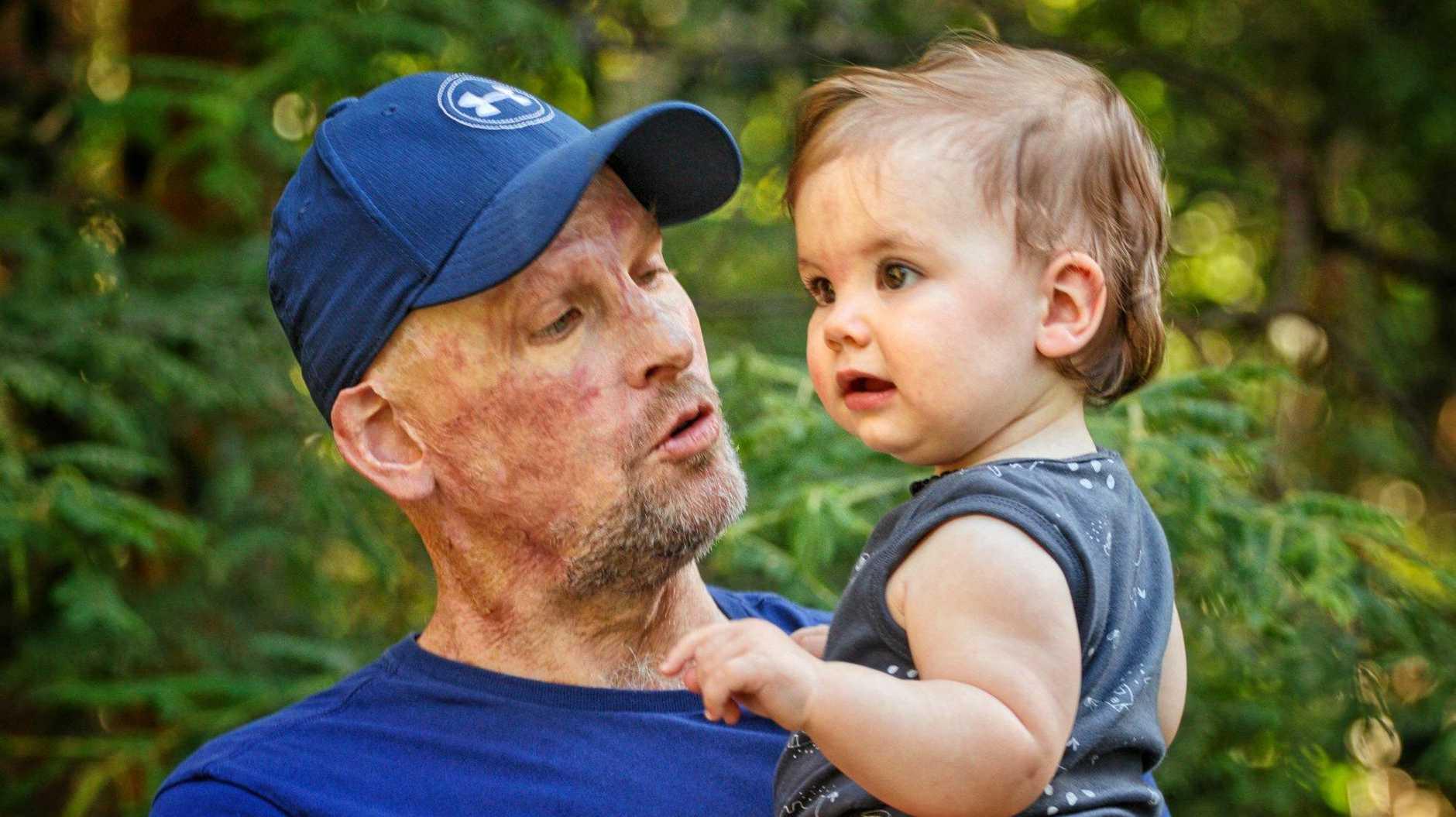 Matt Golinski and daughter Aluna.