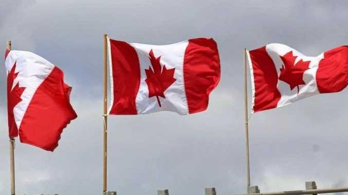 Patriotic Canadians show their true colours.
