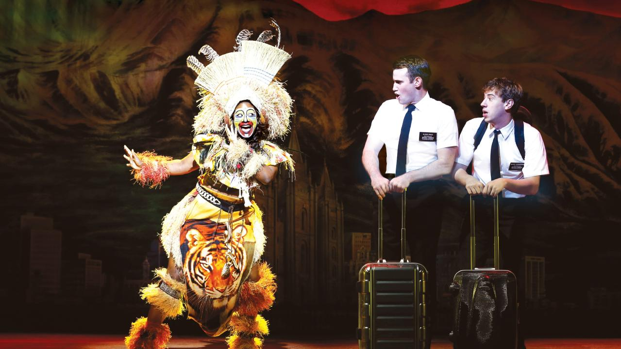 Award-winning musical The Book of Mormon is coming to Brisbane. Picture: Jeff Busby