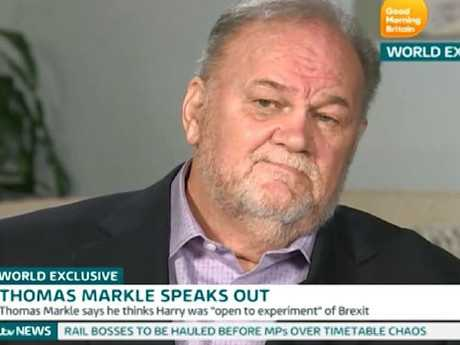 Thomas Markle has given a number of awkward interviews about his daughter and the Royal Family. Picture: Supplied