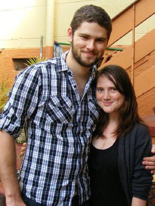 Madison with partner John Larney.