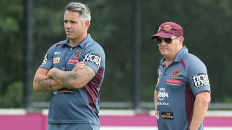 Corey Parker and Kevin Walters have both left the Broncos coaching staff. Picture: Peter Wallis