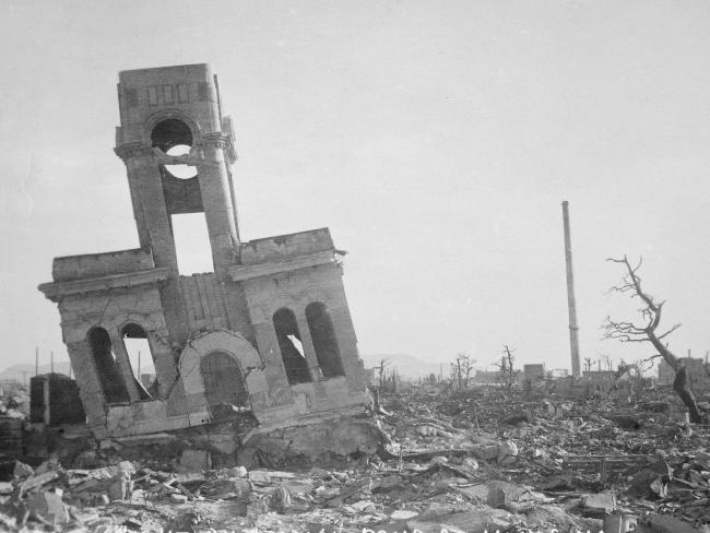 A view of Hiroshima showing the damage to buildings caused by the dropping of the first atomic bomb. Picture: Australian War Memorial.