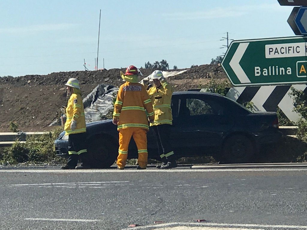 Accident at the Cameron Street exit of Maclean onto the Pacific Highway.