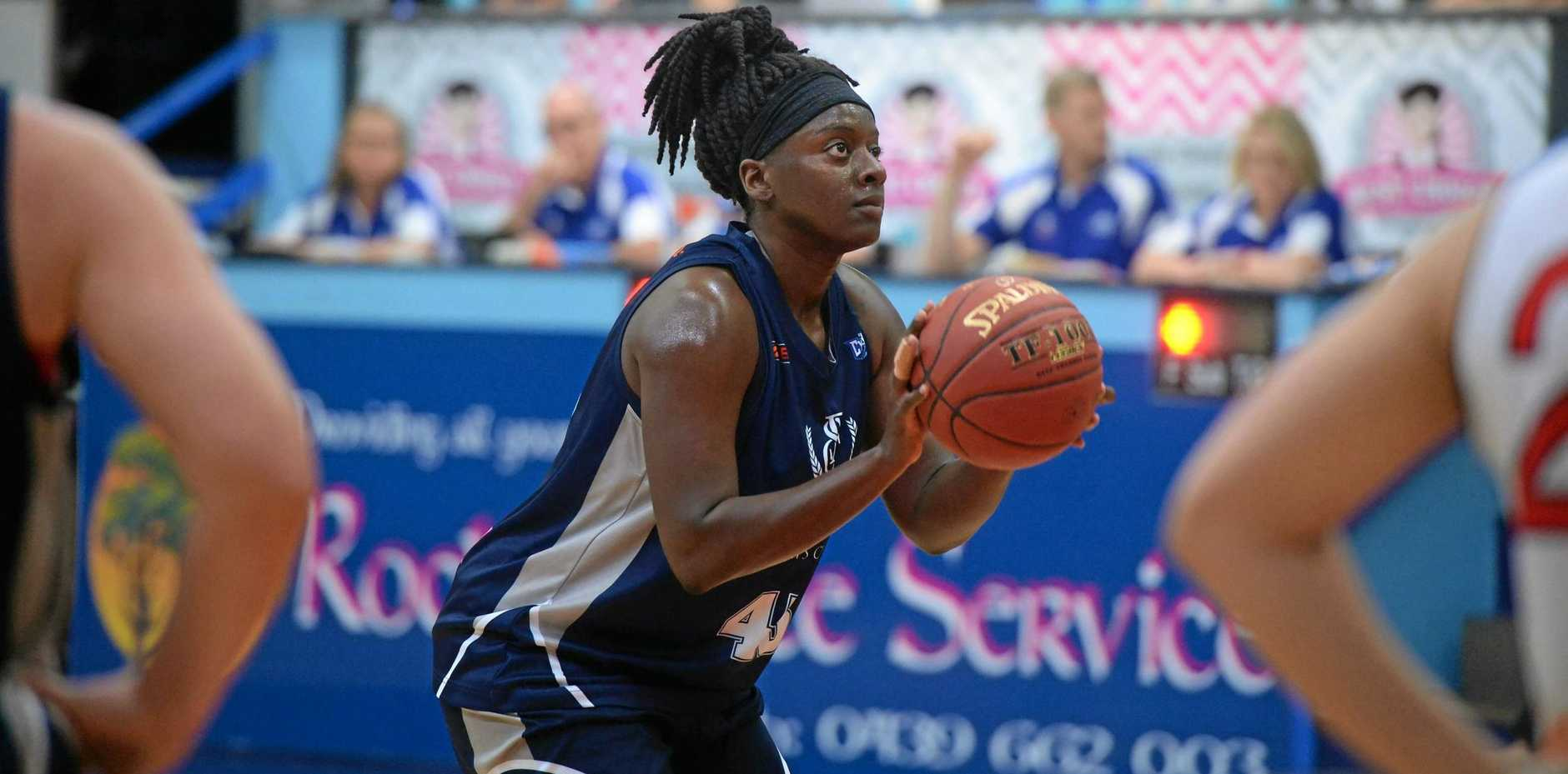Star centre Shanavia Dowdell played her last home game for the Rockhampton Cyclones on Saturday night.