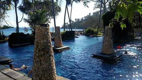 THE luxurious Sheraton Senggigi on Lombok where Ms Norman and Paul Bergin were staying when the earthquake struck.