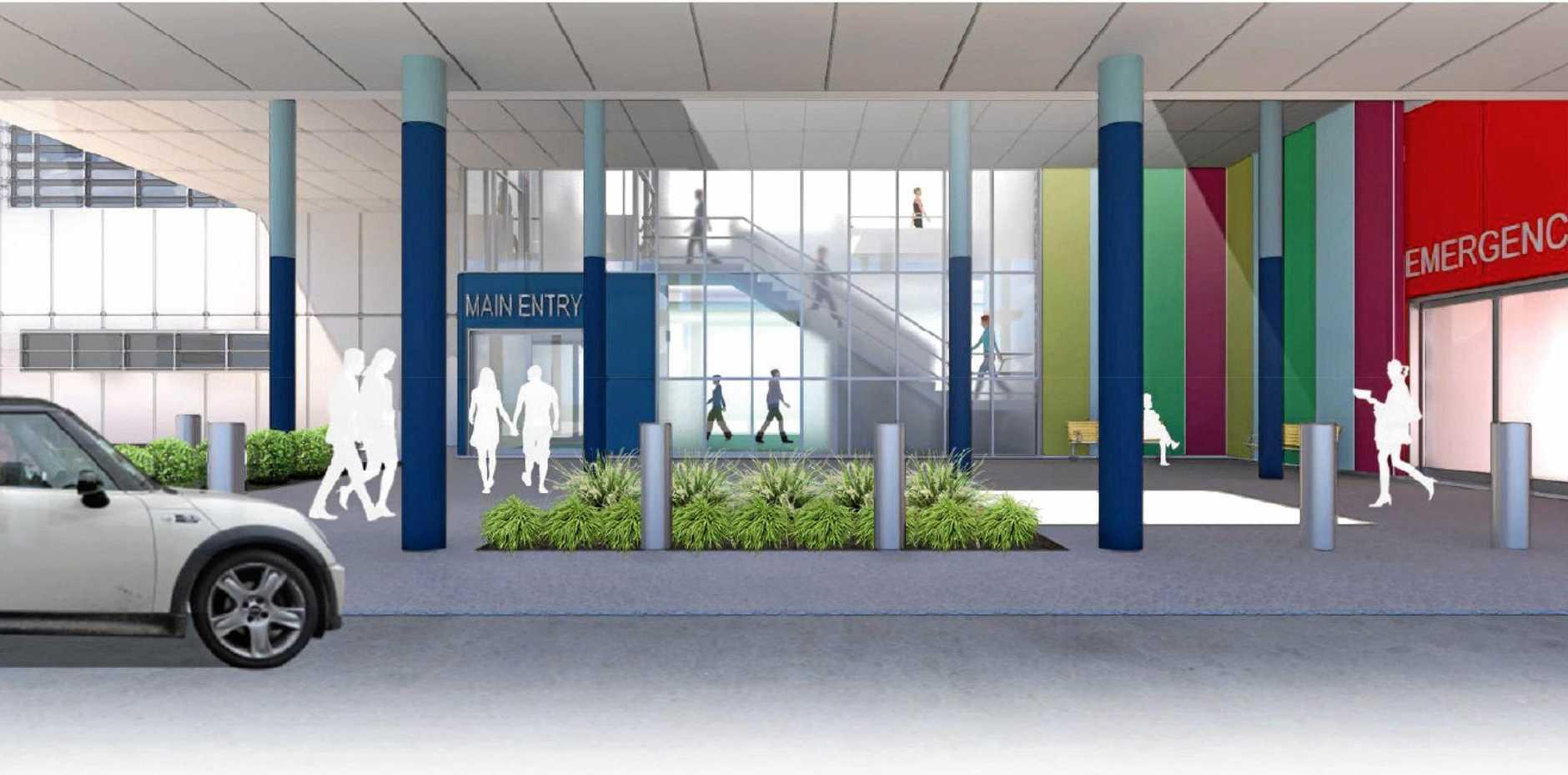 PROGRESS: An artist's impression of the $42 million Gladstone Hospital Emergency Department upgrade.