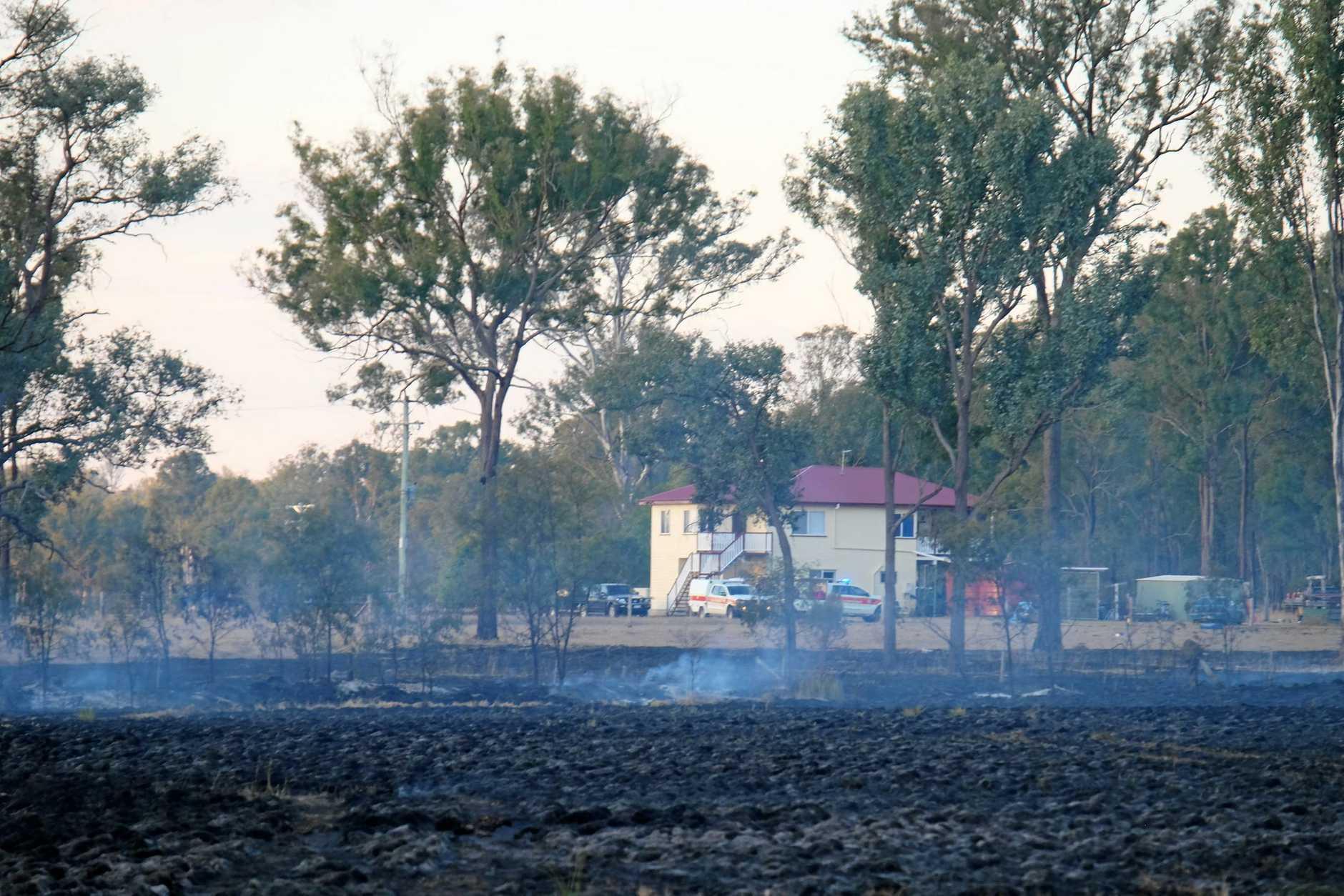 Grass fire at Deep Creek Rd, Inverlaw, on Sunday August 5, 2018.