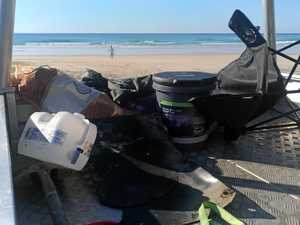 Load of rubbish: Beach camp sites flooded with waste
