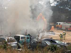 UPDATE: Cause of wrecking yard fire discovered