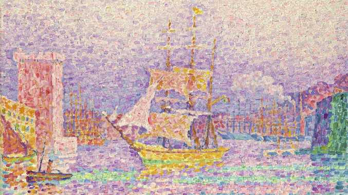 Paul Signac 'Leaving the Port of Marseille', 1906, oil on canvas. c:  The State Hermitage Museum 2018, Vladimir Terebenin.