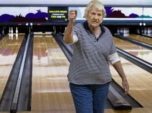 Bowled over! Legally blind bowler knocking them down at 96