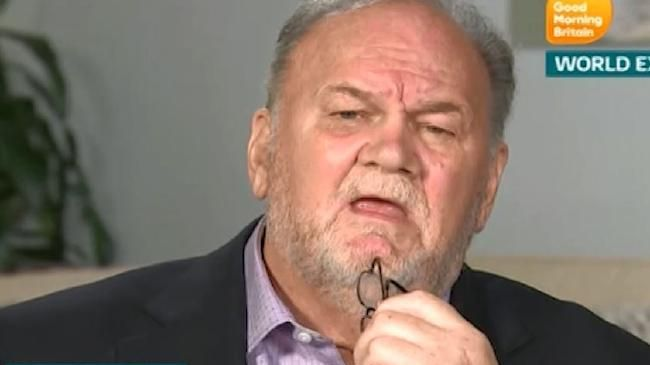 Thomas Markle, who lives in Mexico, has previously said the royals were freezing him out of his daughter's life. Picture: ITV