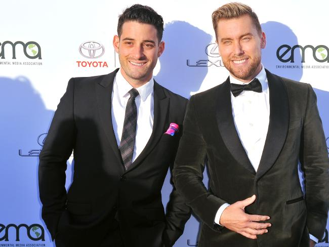 Lance Bass (right) with husband Michael Turchin thought they had the Brady Bunch house in the bag. Picture: Getty Images
