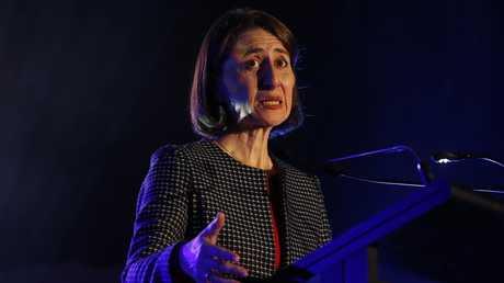 Premier Gladys Berejiklian unveiled a $23 million digital learning package. Picture: David Swift.