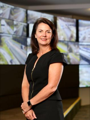 Transurban Queensland Group executive Sue Johnson. Picture: AAP Image/Steve Pohlner