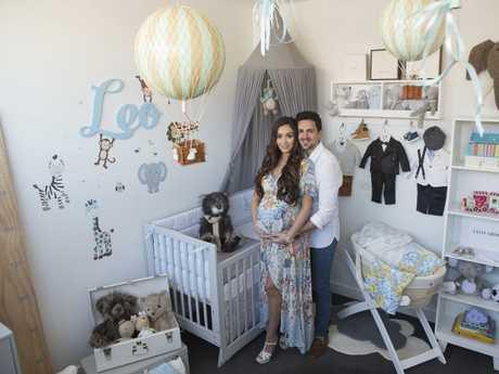 Zana Pali and Gianni Romano inside their lavish baby nursery. Picture: Zed Photography