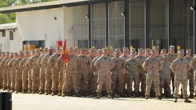 US troops in Darwin