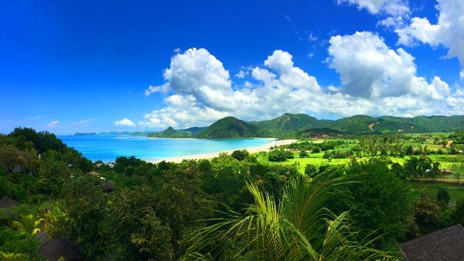 Lombok is a popular tourist island.