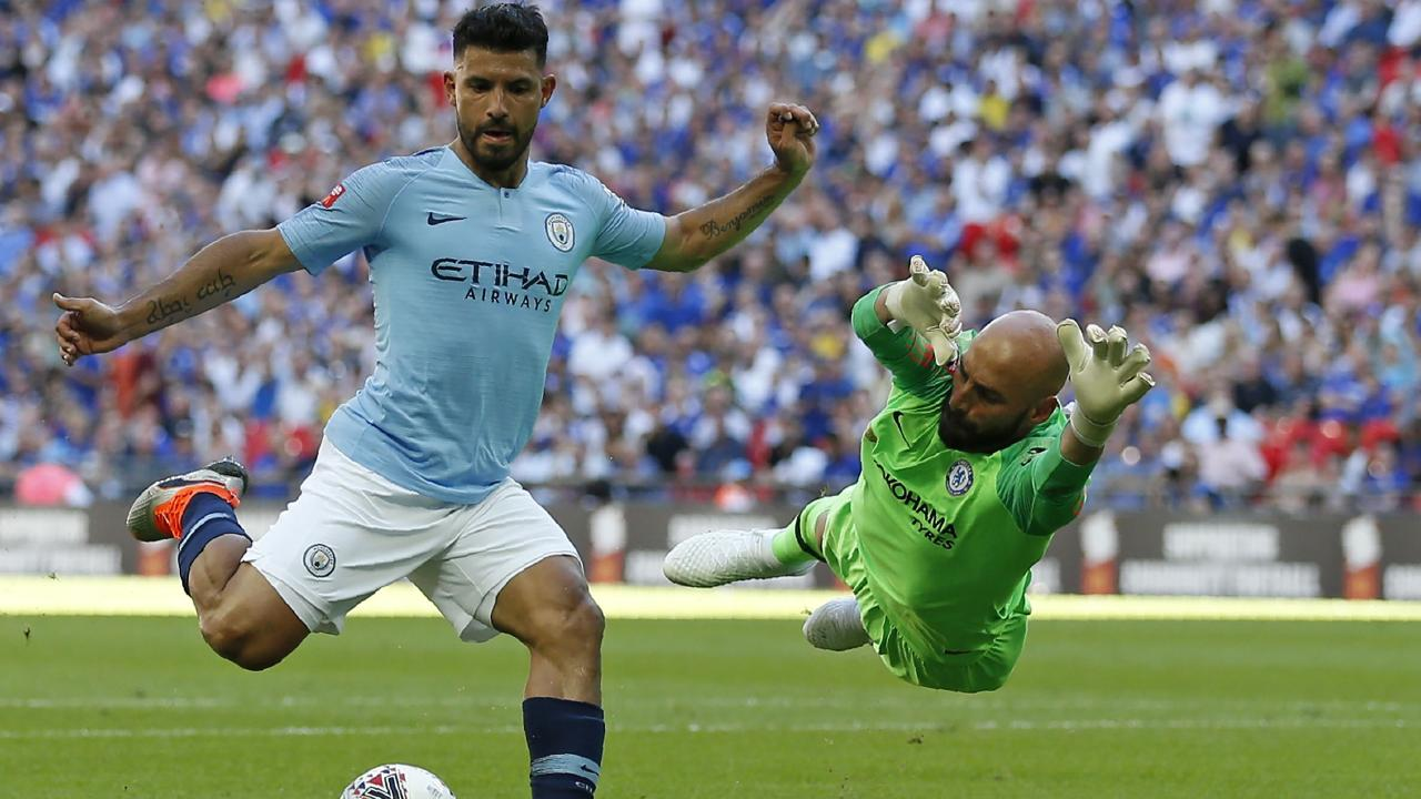 Sergio Aguero scored a double against Chelsea as Manchester City cruised.