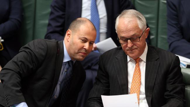 Energy Minister Josh Frydenberg and Prime Minister Malcolm Turnbull are seeking to lock in the support of states and their own party room to pass the National Energy Guarantee. Picture Gary Ramage