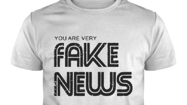 Journalists have been upset over this T-shirt, on sale at a Washington media museum. Picture: Supplied