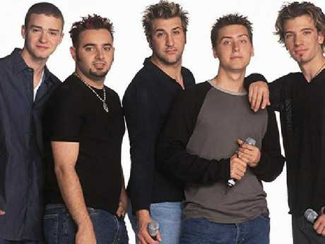 Lance Bass with NSync. Picture: Supplied