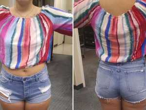 Teen kicked out of shops for outfit