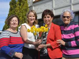 Patient talks on the meaning of Daffodil Day
