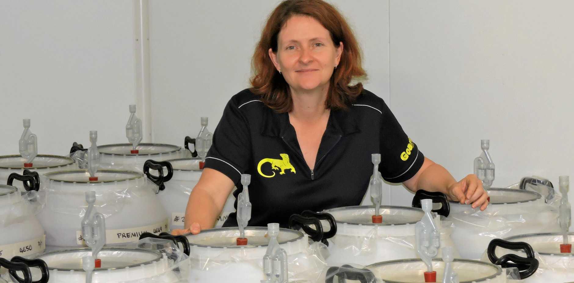 SELLING UP: Linda Palmer of Goanna Brewery.