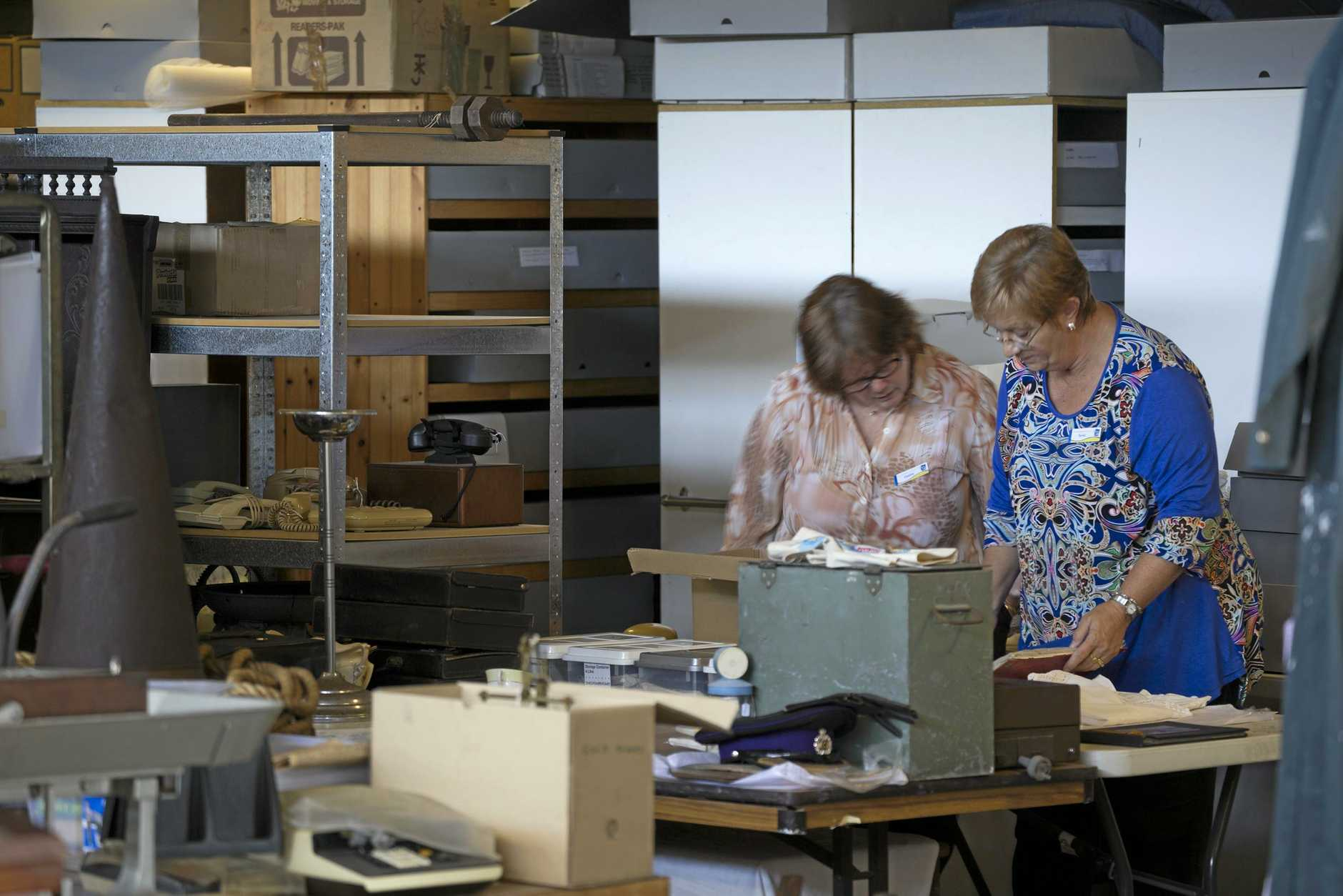 Local studies and digitisation officer Debbie Campbell and cultural collections officer Terrie Beckhouse.
