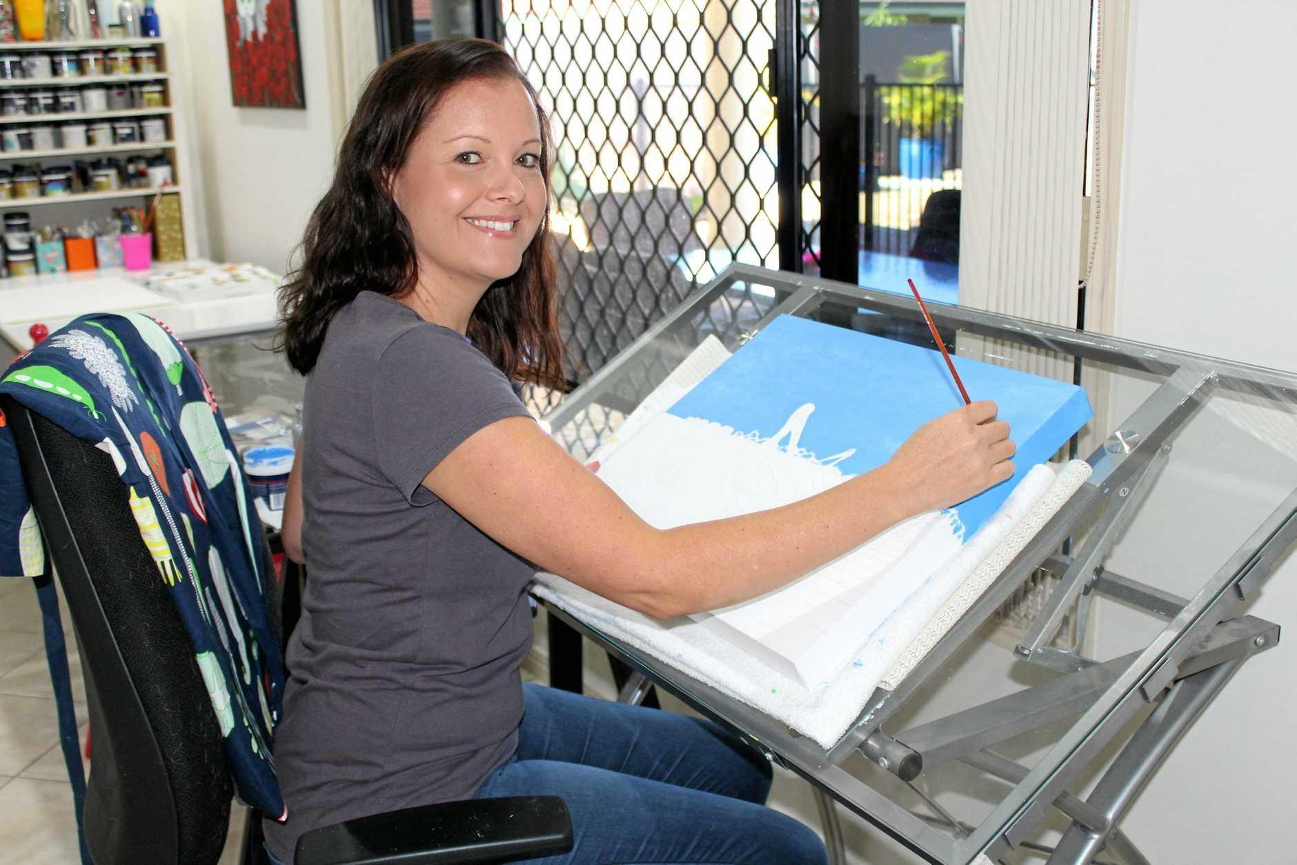 ARTIST: Rebecca Jane Knowles in her studio.