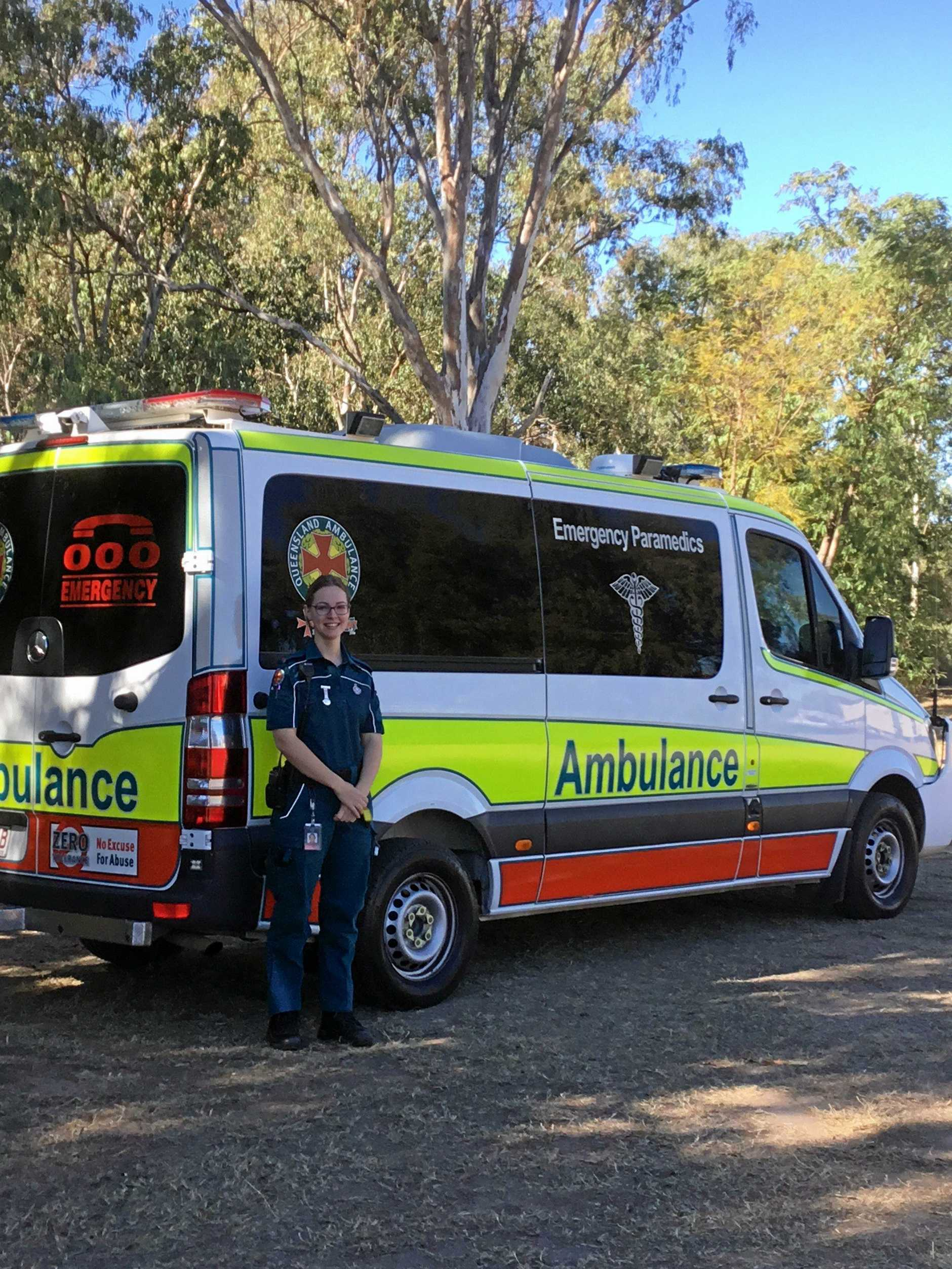 HEADING WEST: Jodie McCallum with the Queensland Ambulance Service in Roma will be going to Augathella for work next week.
