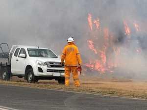 Fireys kept busy as bushfire destroys acreage