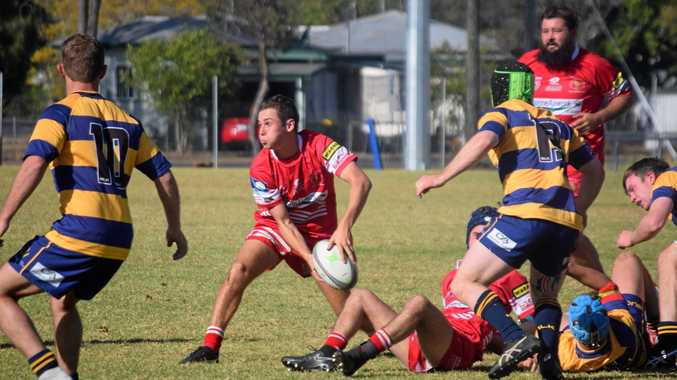 NEXT WEEK: St George halfback throws the ball from the ruck during their game against the Dalby.