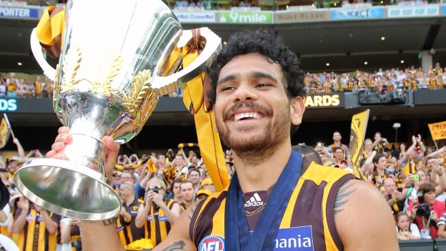 Hawthorn's Cyril Rioli retired with four premierships to his name. Picture: Alex Coppel