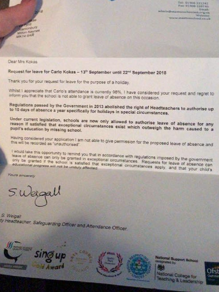 Awful note sent to sick mum. Picture: Angela Rose/Facebook